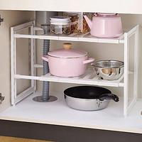 日本进口厨房置物架分层整理角架水槽收纳架橱柜锅具架分格储物架