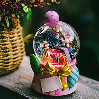 jarll水晶球音乐盒八音盒送女生小朋友闺蜜生日创意旋转Party水球