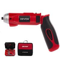 大有(Devon)充电式电动螺丝刀5607 家用装修DIY多功能电动起子螺丝刀 56074V锂电池充电式螺丝批套装