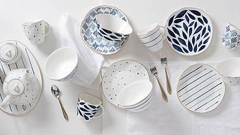 每日厨房快讯 Lenox推出新款Blue Bay系列陶瓷餐具套装