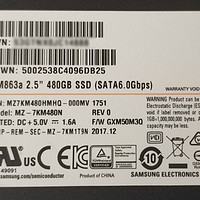 """大船靠岸,注意安全,三星SM863a 2.5"""" 480GB SSD 简测"""