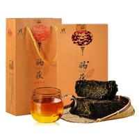 高马二溪 黑茶湖南安化黑茶茯茶金花茯砖茶 赐茯400g