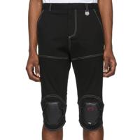 Xander Zhou: 黑色护膝短裤 | SSENSE