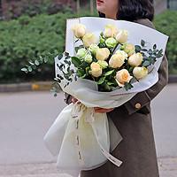 香槟玫瑰花束全国同城鲜花速递北京广州深圳南昌南京花店送花上门