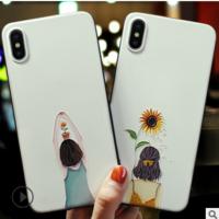 新款苹果手机壳女适用iPhone网红全包防摔卡通彩绘浮雕手机壳定制