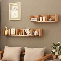 北欧实木墙上置物架卧室电视墙壁挂客厅转角搁板墙角隔板现代简约