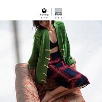 【预售】刘雯联名款19新品长款格纹针织半裙