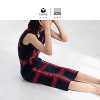 【预售】刘雯联名款19新品V领格纹针织背心