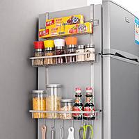 304不锈钢冰箱置物架侧挂架厨房多功能收纳架调料架侧面壁挂架子