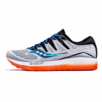 Saucony索康尼TRIUMPH胜利男跑步鞋网面舒适透气运动鞋S20462白色/黑色/橙色44.5