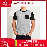 Hollister2019年秋季新品圆领短袖T恤男277116-2