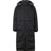 【2件3折价:440.7】MECITY男装连帽及膝长款工装大口袋保暖羽绒服男