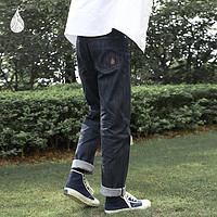 14oz靛蓝原色赤耳丹宁牛仔裤蓝布屋进口面料宽松直筒老式经典牛仔
