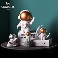 北欧创意太空人宇航员航天装饰摆件书房客厅酒柜工艺品摆设模型