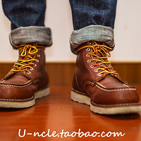 Vintage手工复古真皮短靴古铜875阿美咔叽古着男女情侣马丁工装靴