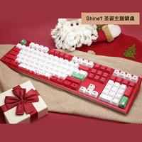 阿米洛Shine7圣诞主题款机械键盘阿米洛吉利鸭联名款办公键盘收藏键盘Shine7圣诞款cherry茶轴