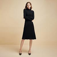 三维立体编织,女式一体无缝纯羊毛连衣裙
