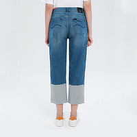 Lee商场同款牛仔裤女415高腰直筒九分裤