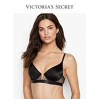 维多利亚的秘密Logo下围蕾丝拼接深V薄款文胸内衣VS11145427