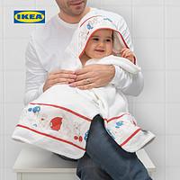 IKEA宜家RODHAKE吕哈克带帽婴儿毛巾北欧宽大吸水性强洗澡浴巾