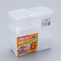 澳大利亚原产decor保鲜防潮系列儿童保鲜盒175ML*6白色