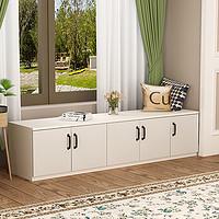 定制飘窗柜储物柜可坐简约现代阳台柜矮柜地柜收纳柜卧室榻榻米柜