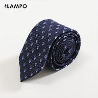 LAMPO/蓝豹男领带商务西服领带桑蚕丝+绵羊毛时尚中蓝衬衫领带