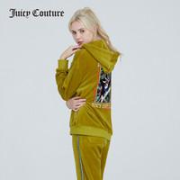 JuicyCouture橘滋2020春新品自由女神图案天鹅绒休闲运动套装琥珀石-下装XS