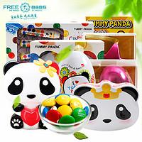 西班牙进口雅米熊猫皇冠六角星抱心熊储钱罐巧克力豆儿童奇趣礼品