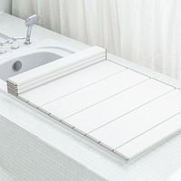 日本进口浴缸盖家用浴室可折叠浴缸防尘盖洗澡架盖板保温盖置物架