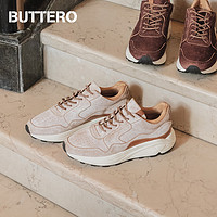 BUTTERO男士休闲鞋老爹鞋跑鞋VIBRAM鞋底磨砂反毛意大利产8020