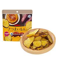 calbee卡乐比日本进口休闲零食焦糖味甘薯片50克/包