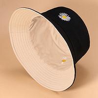 双面渔夫帽女夏季日系太阳帽子男韩版潮时尚百搭遮阳帽防晒紫外线