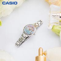 卡西欧(CASIO)手表 SHEEN系列优雅时尚腕表施华洛世奇水晶时尚太阳能动力女表 SHE-4516SBD-7CUPRN礼盒版