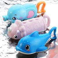 卡通儿童水枪女孩小号抽拉式迷你喷水枪幼儿园鲨鱼水炮玩具宝男孩