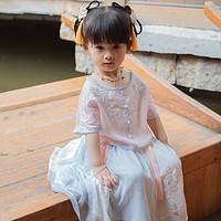 西子问女童汉服夏古装超仙小女孩汉服襦裙中国风童装儿童唐装绾音