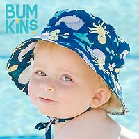 Bumkins太阳渔夫婴儿帽子男女童夏季薄款宝宝儿童遮阳防晒大帽檐