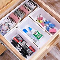 可伸缩抽屉收纳盒分隔盒塑料厨房餐具整理盒长方形收纳格小盒子