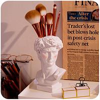 大卫化妆刷桶刷子收纳神器ins韩风学生笔筒眉笔收纳盒书桌面创意