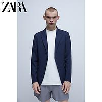 ZARA新款男装泡泡纱套装西装外套07380652401