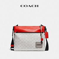 COACH/蔻驰男士经典标志COACH贴饰PACER斜挎包