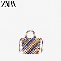 ZARA新款童包女童春夏新品多色串珠手提包11183530203