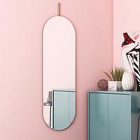 全身镜壁挂家用小户型网红少女试衣镜子过道贴墙ins风挂墙穿衣镜