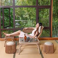 紫叶阳台茶桌椅组合多功能网红小茶几客厅家用小户型茶台日式茶桌
