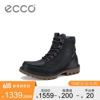 ECCO爱步英伦风马丁靴男2019新款厚底工装靴短靴趣闯460314黑色4603145105240