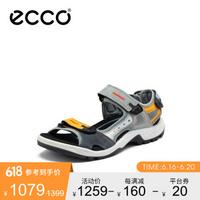 ECCO爱步男士凉鞋个性拼色耐磨户外休闲鞋越野822074彩色/明黄色8220745176642