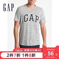 Gap男装圆领时尚短袖T恤541066logo徽标上衣男士夏季