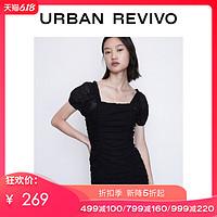 UR2020夏季新品青春女装轻熟时髦灯笼袖紧身连衣裙YV22S7FE2001