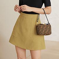 范思蓝恩西装小短裙女夏季显瘦半身裙2020新款韩版高腰a字裙裤子