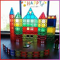playmags彩窗磁力片积木城堡拼装益智磁性构建片3-6-8-9儿童玩